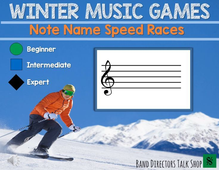 Winter Music Games Note Name Game Beginning Band Games