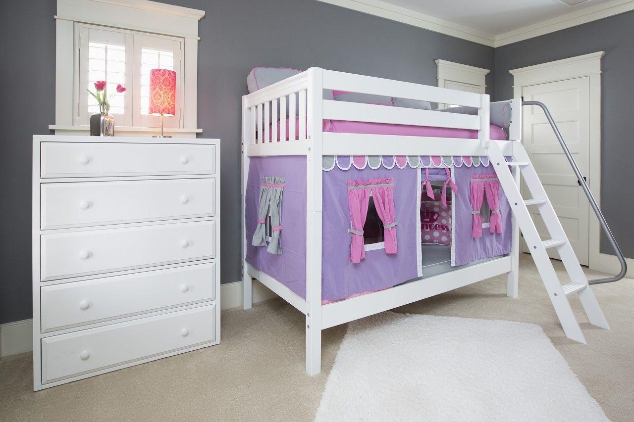 Twin Medium Bunk Bed White bunk beds, Queen bunk beds