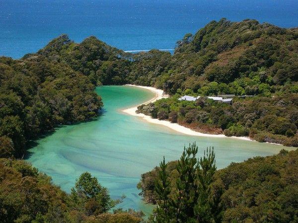 Ariel view of Abel Tasman National Park
