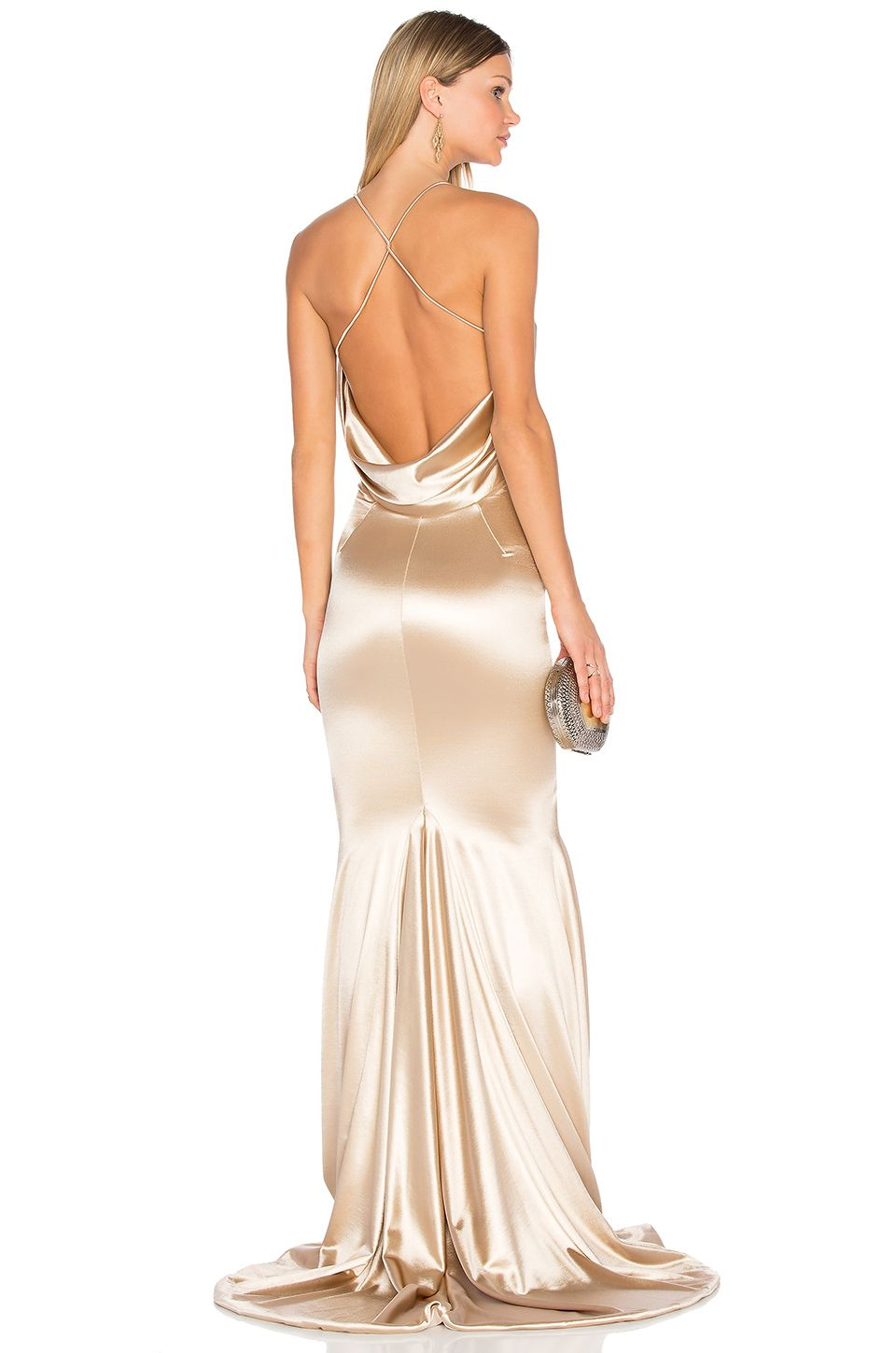 Gemeli Power Barthelemy Gown in Light Champagne Gold | THE dress ...