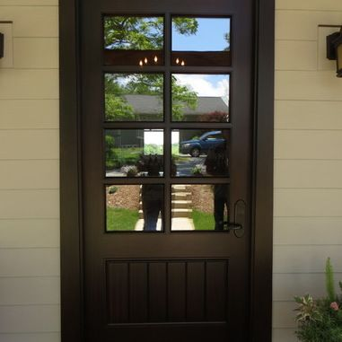 Bi Folding Patio Door And Arts Crafts Eclectic Entry Door Brown Front Doors Painted Front Doors Traditional Front Doors