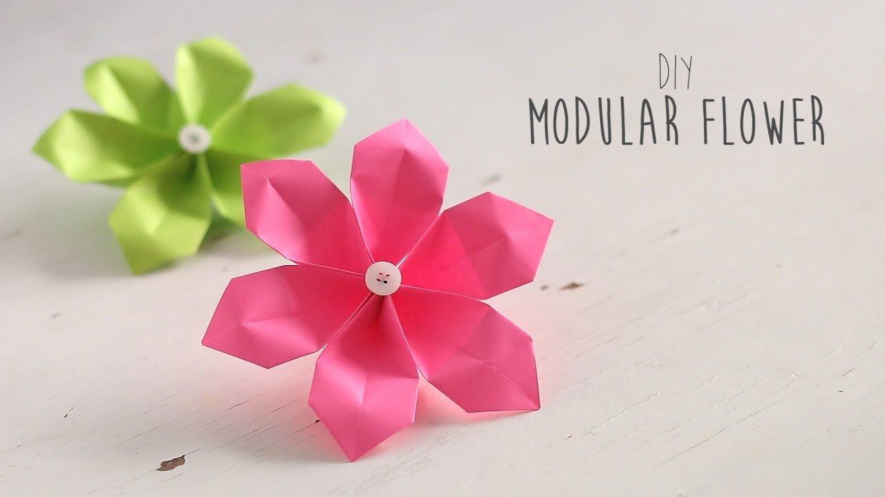 Modular 6 Petal Paper Flower Origami Pinterest Origami Flower