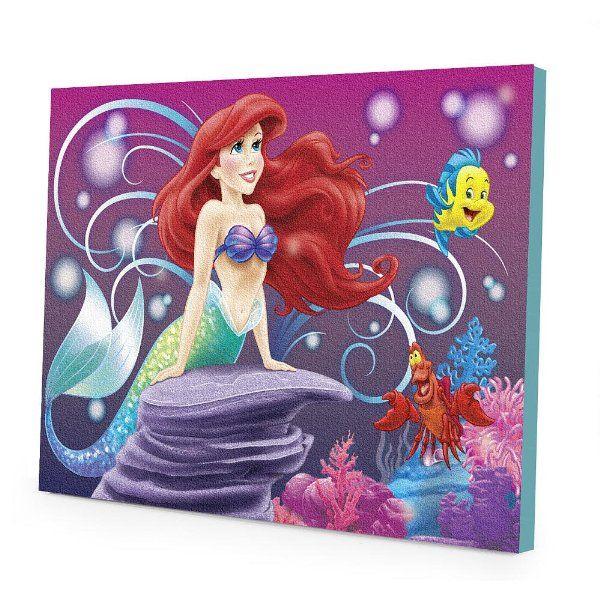 Disneyu0027s The Little Mermaid Ariel LED Canvas Wall Art:Amazon:Toys U0026 Games