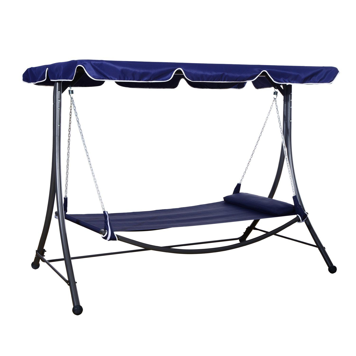 Outsunny patio pool hammock bed lounger with sun shade canopy lawn