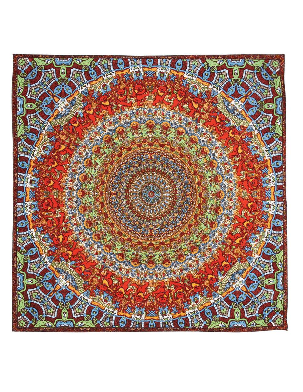 Grateful Dead GD Spiral Bears 3D Tapestry Liquid Blue
