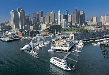 Boston Harbor.   Busy city!