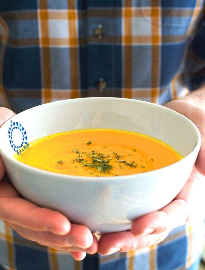 Potage citrouille, patate douce et carotte. Alexandra Leduc nutritionniste. http://bit.ly/potagecitrouille