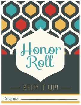 Celebration Certificate Pack  S Style  Honor Roll