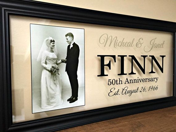 50th Anniversary Gifts For Parents50th Wedding 50 Gift Parents 10X20