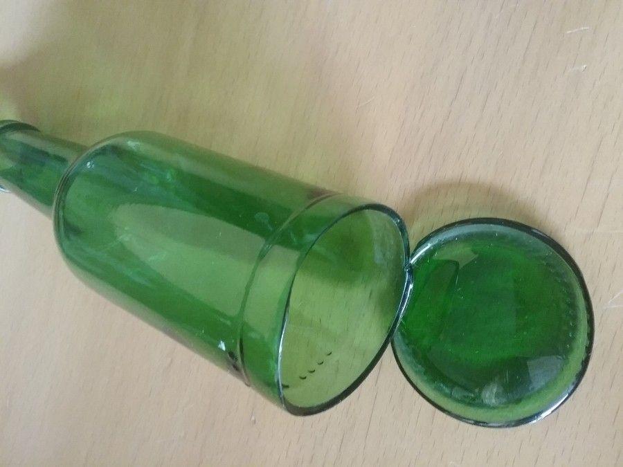 Flaschenboden Glas Herauslosen Ohne Spezialwerkzeug