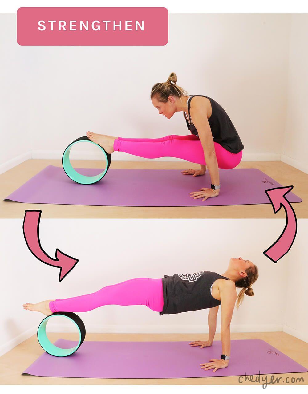 10 ways to use a yoga wheel - Ché Dyer