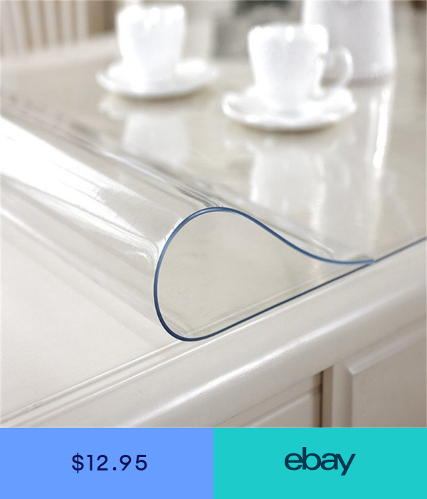 44 x 72 Inch 6FT Clear Plastic Dining Table Protector Tablecloth Desk Pad Mat Wooden Furniture Coffee Glass End Banquet Table Top Cloths Protection Countertop Cover Waterproof Rectangular PVC Vinyl