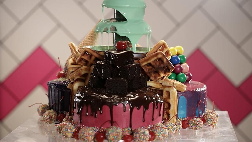 Make Brogen S Quot Ice Dream Sundae Quot Party Cake From Episode 4