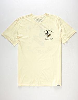 cd3fef57f9 RIP CURL Cap'n Shred Mens T-Shirt Yellow | JAKE WOOD DESIGN | Rip ...
