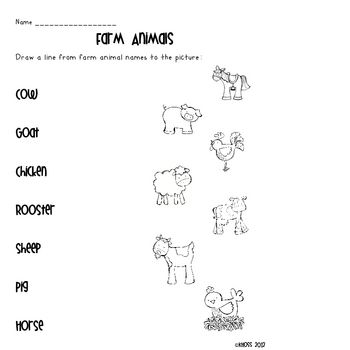 Farm Themed Literacy Activity Sheets | Centers and Small ...