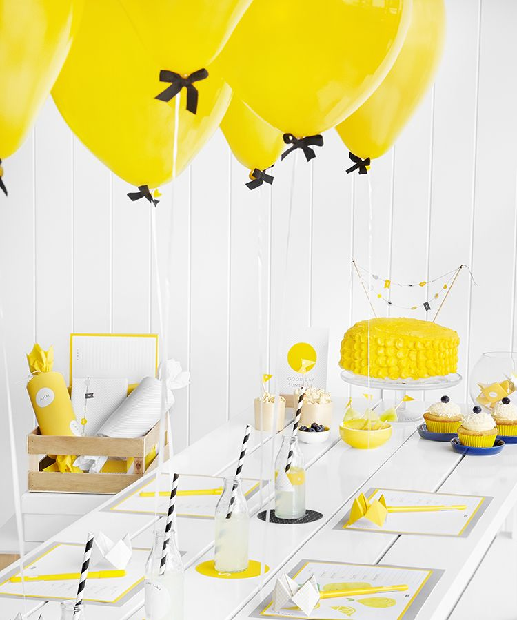 Hello Yellow Party Ideas Part 2 Birthday Party Tables Yellow