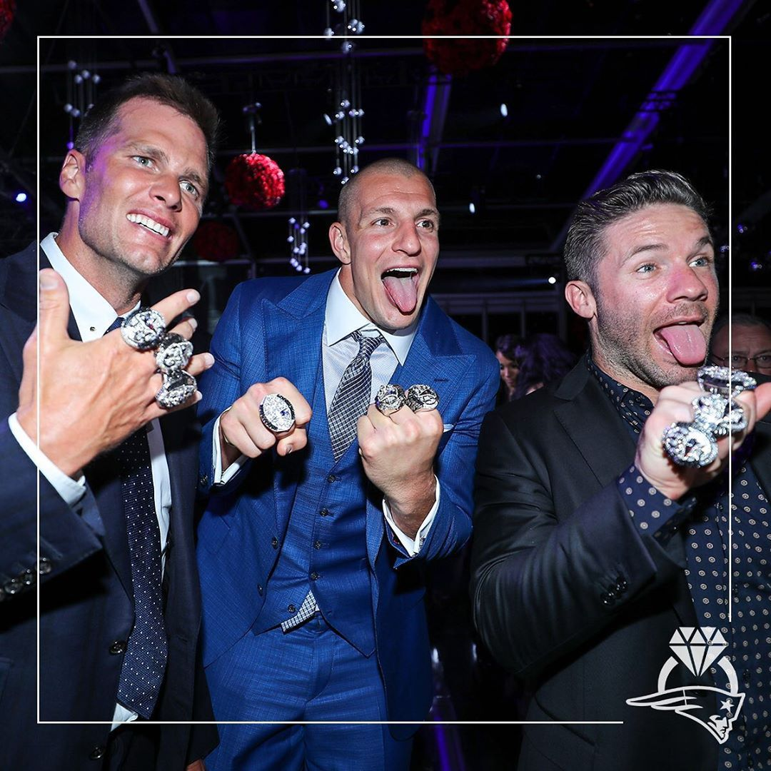 3 Champs 12 Rings New England Patriots Gronkowski New England Patriots Football New England Patriots