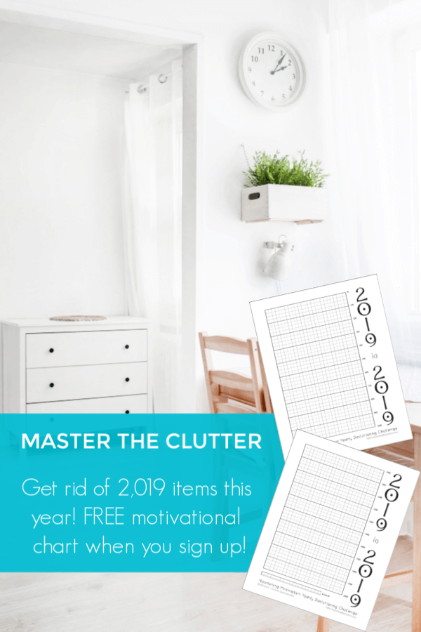 2019 In 2019 Decluttering Challenge Declutter Home Organization