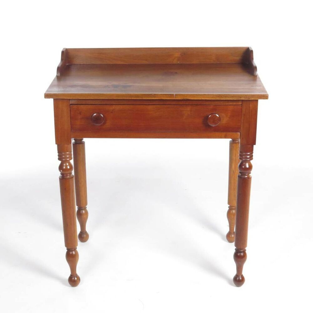 3d80f3f8223b8 Antique server small cherry side table end stand Sheraton 19th c  American   Country