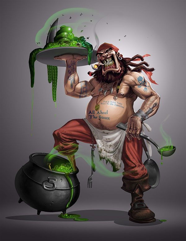 Crazy Pirate Cook on Behance | Character illustration, Pirate illustration,  Pirates illustration