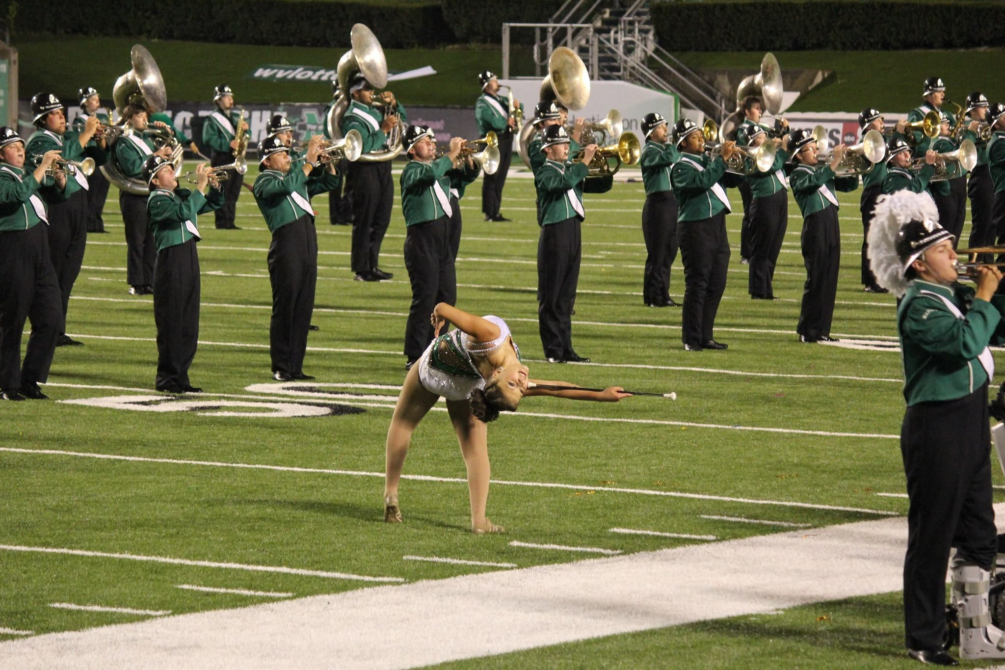 Kylie Marshall University Feature Twirler, lay back! :)