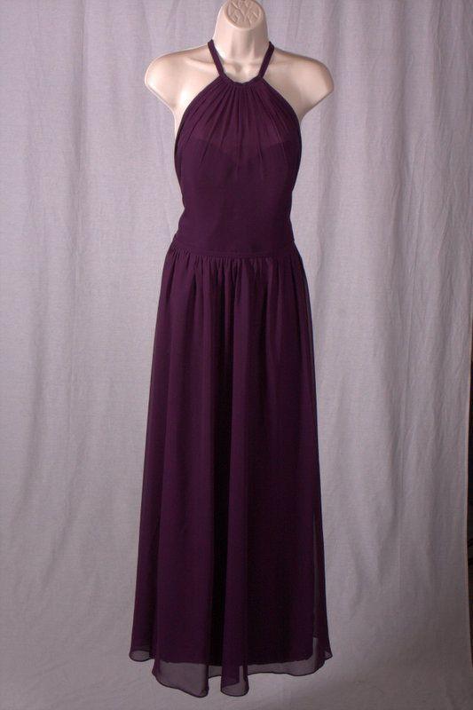 Womens Jjs House Plum Long Bridesmaid Formal Sleeveless Dress Size