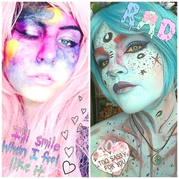 WHEN YOU and your friend became cute moon babies together FUKING got to love this Moon Baby make up