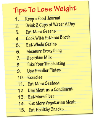 tips to lose weight fast and naturally