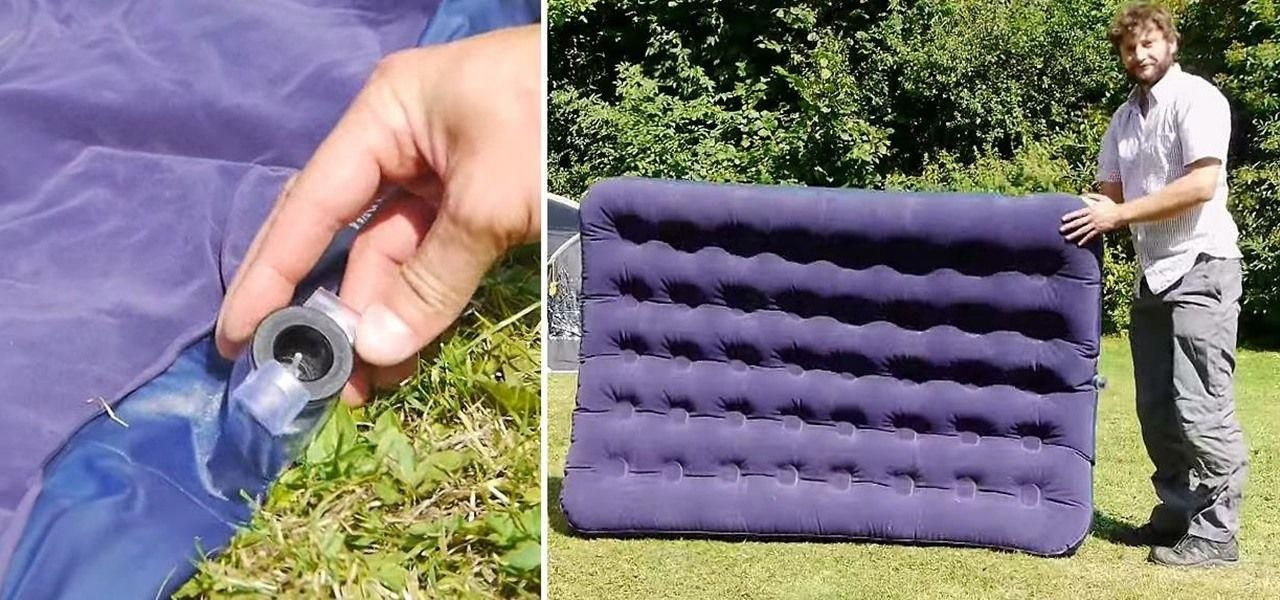 This Hack Makes It Easy to Inflate an Air Mattress Without