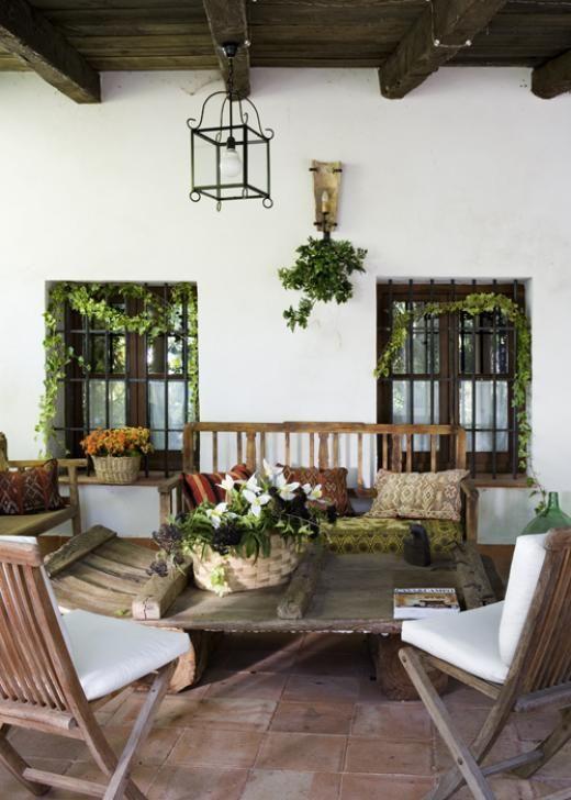 Casa y campo para so alcarre o jard n pinterest for Jardines rusticos campestres