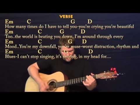 All Of Me (John Legend) Strum Guitar Cover Lesson with Chords ...