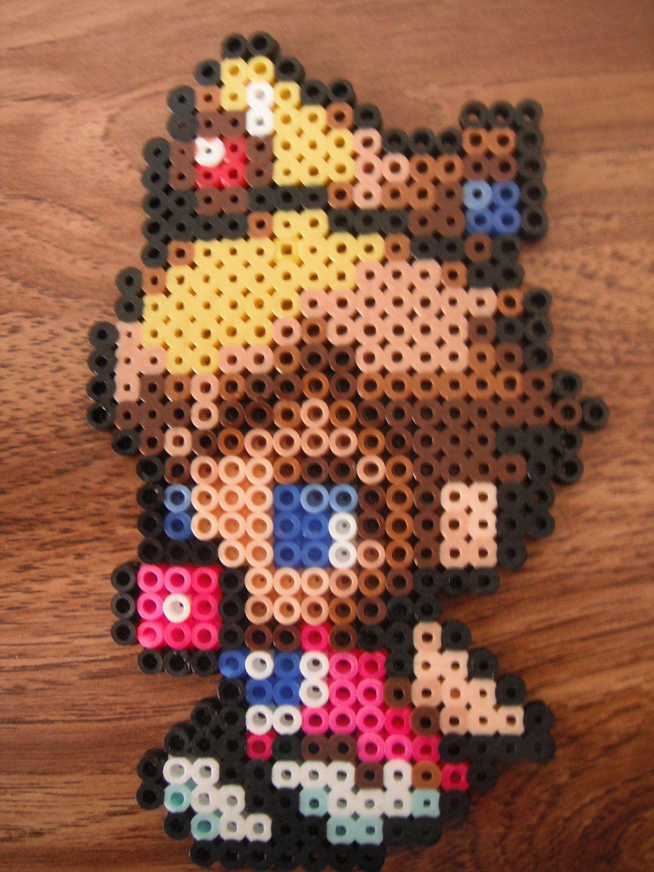 4a068dff03857 Baby Princess Peach from Mario perler bead design   Perler Bead ...