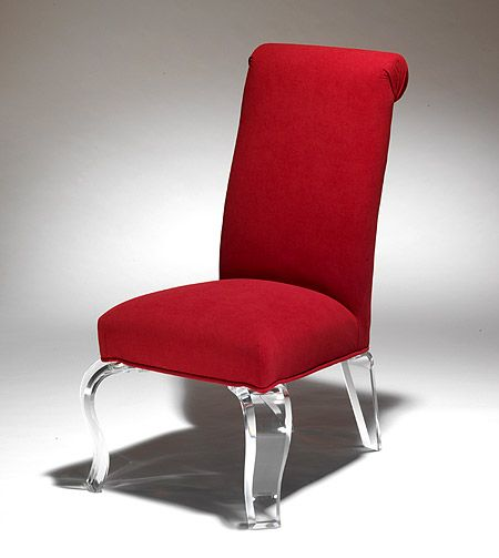 Luxury Red Chair With Acrylic Legs From Muniz Plastics In Miami Fl Dining Chairs Available Today