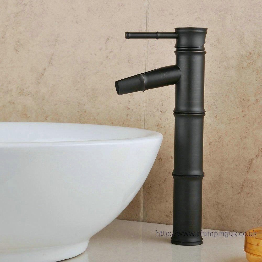 Brass Bamboo Faucet Design Lavatory Vanity Vessel Sink Filler Faucet  Bathroom ,Oil Rubbed Bronze