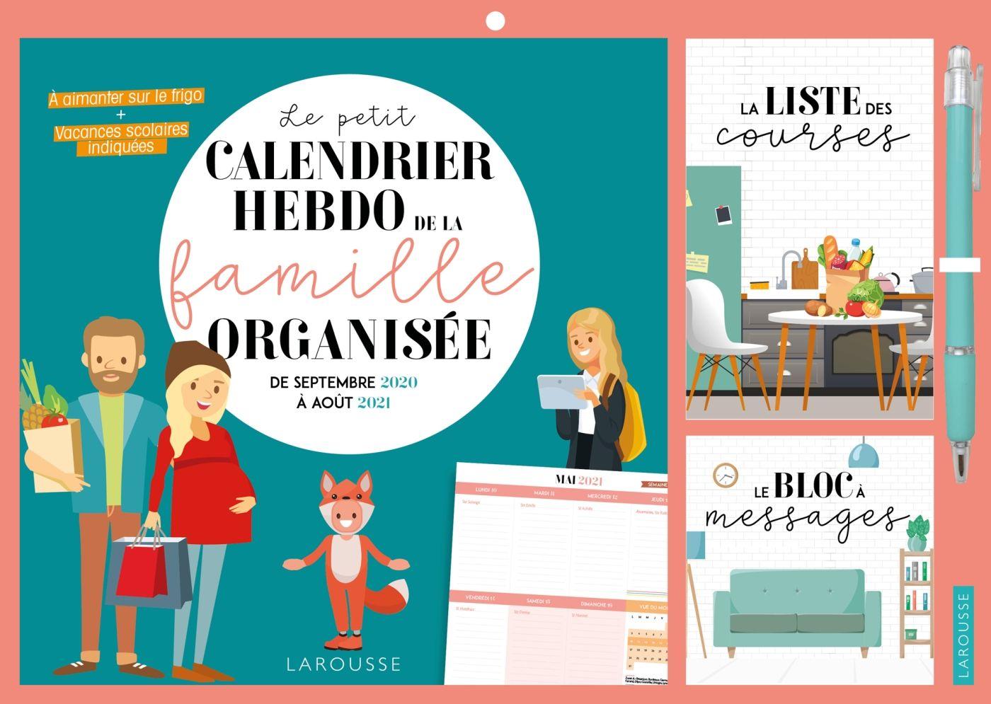 Le Petit Calendrier Hebdo De La Famille Organisee 2020 2021 Livres A Lire Listes De Lecture Livres En Ligne