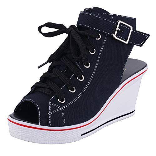 Nouveau Femme Fille Plate Lacet Tennis Escarpins Toile Baskets Chaussures Taille