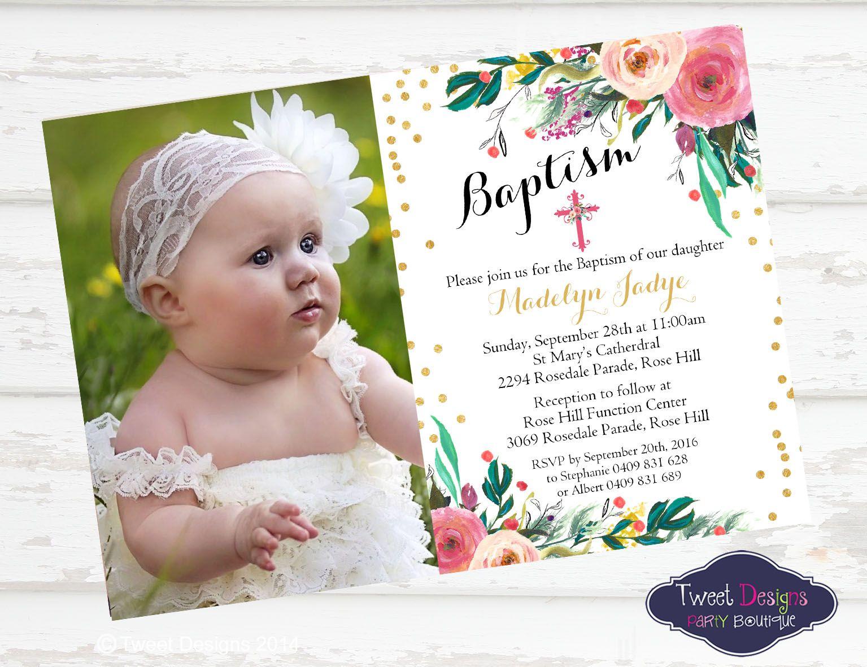 Christening Invitations, Instant Download Invitations, Baby Shower ...