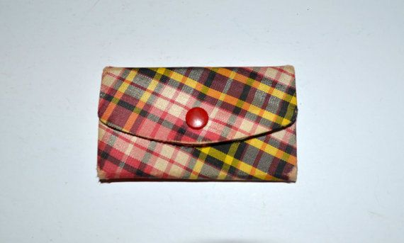 Vintage Plaid Mini Wallet Nail Set Manicure Pedicure by AmoreDolce, $17.00