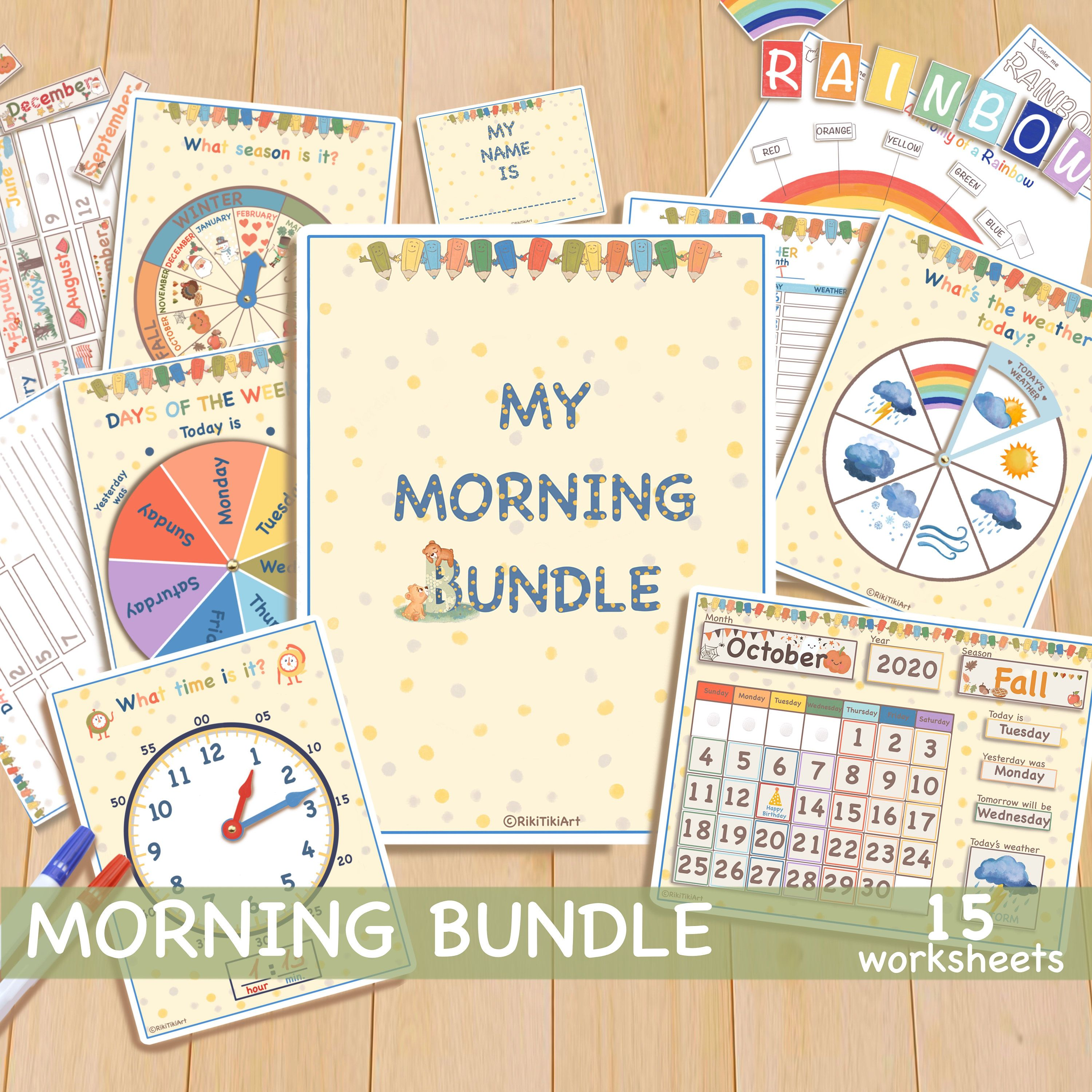 Busy Book My Morning Bundle Circle Time Printable