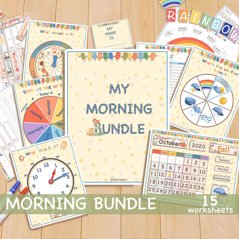 Busy Book My Morning Bundle Circle Time Printable