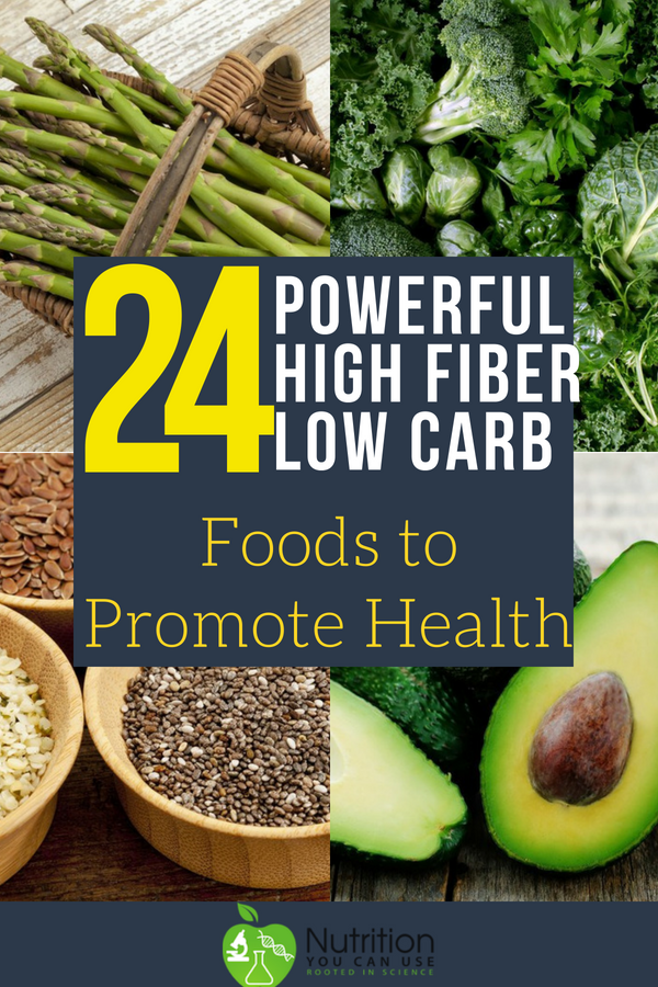 24 Powerful High Fiber Low Carb Foods To Promote Health High Fiber Low Carb Keto Diet Benefits High Fiber Foods