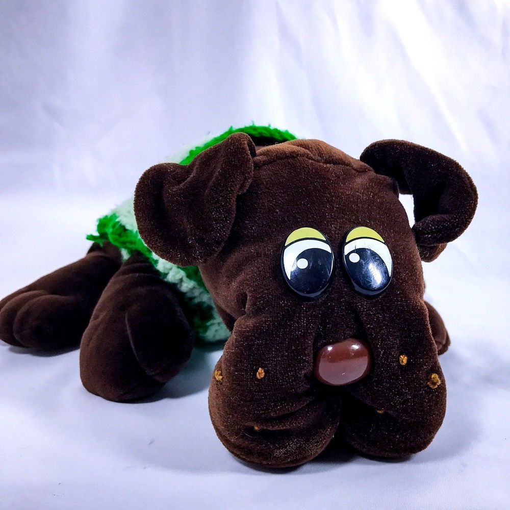 Pound Puppies Vtg Tonka Chocolate Brown Large Dog 15 Plush