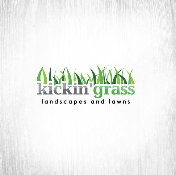 Kickin Grass Lawn Care Logo Logo Design Lawn Care Business