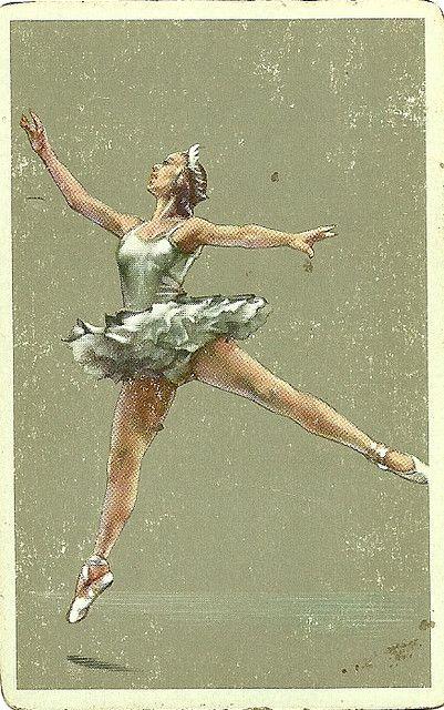 vintage playing card ballerina by Millie Motts, via Flickr