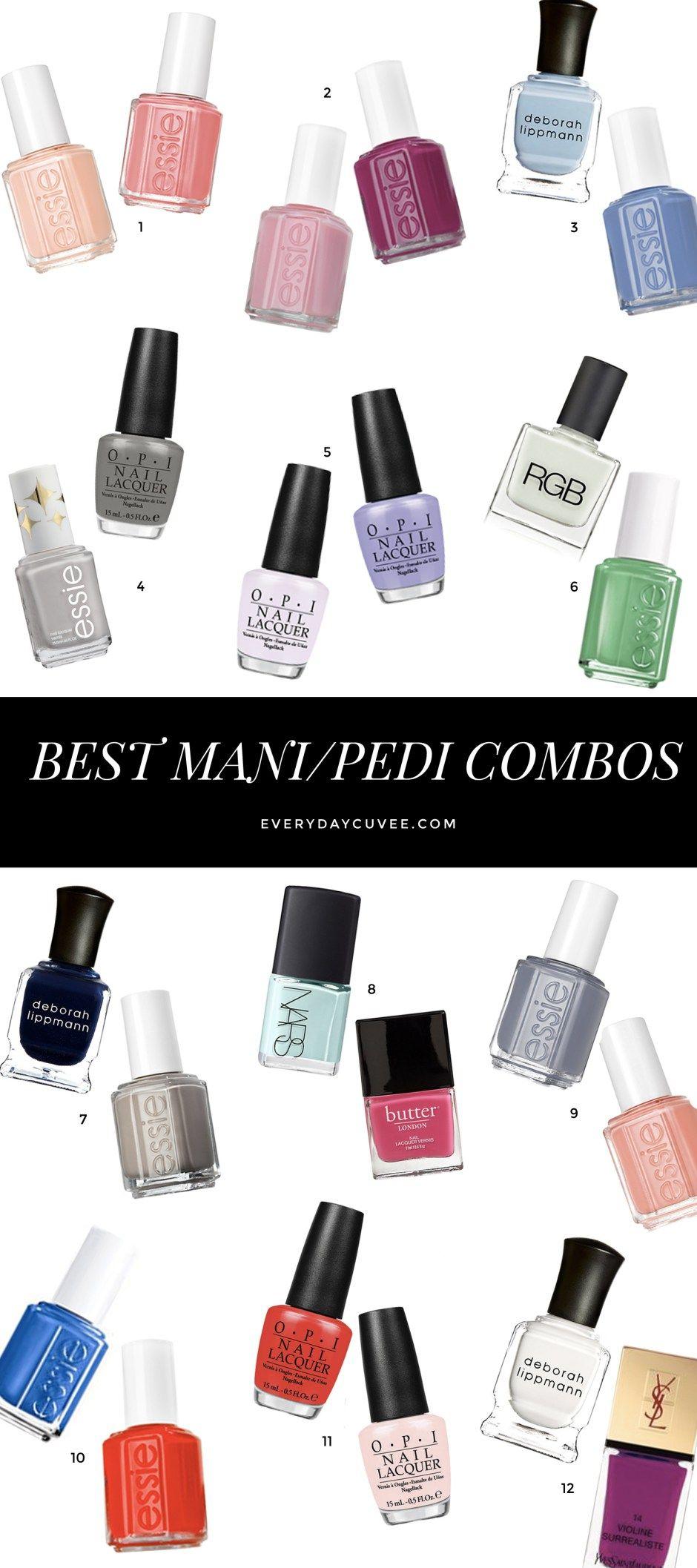 Best Mani-Pedi Nail Polish Color Combos | Mani pedi, Nail polish ...