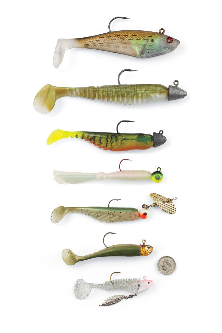 Assorted Paddletail Swimbaits For Walleyes Fish Fishing Tips Walleye Fishing Tips