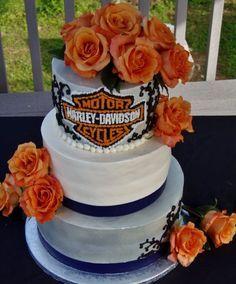 Harley Davidson BC wedding cake   Cake Ideas   Pinterest   Harley ...