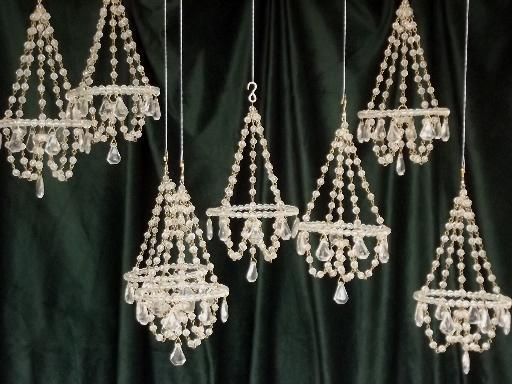 Mini crystal chandelier ornaments glass bead chandeliers set to mini crystal chandelier ornaments glass bead chandeliers set to hang aloadofball Choice Image