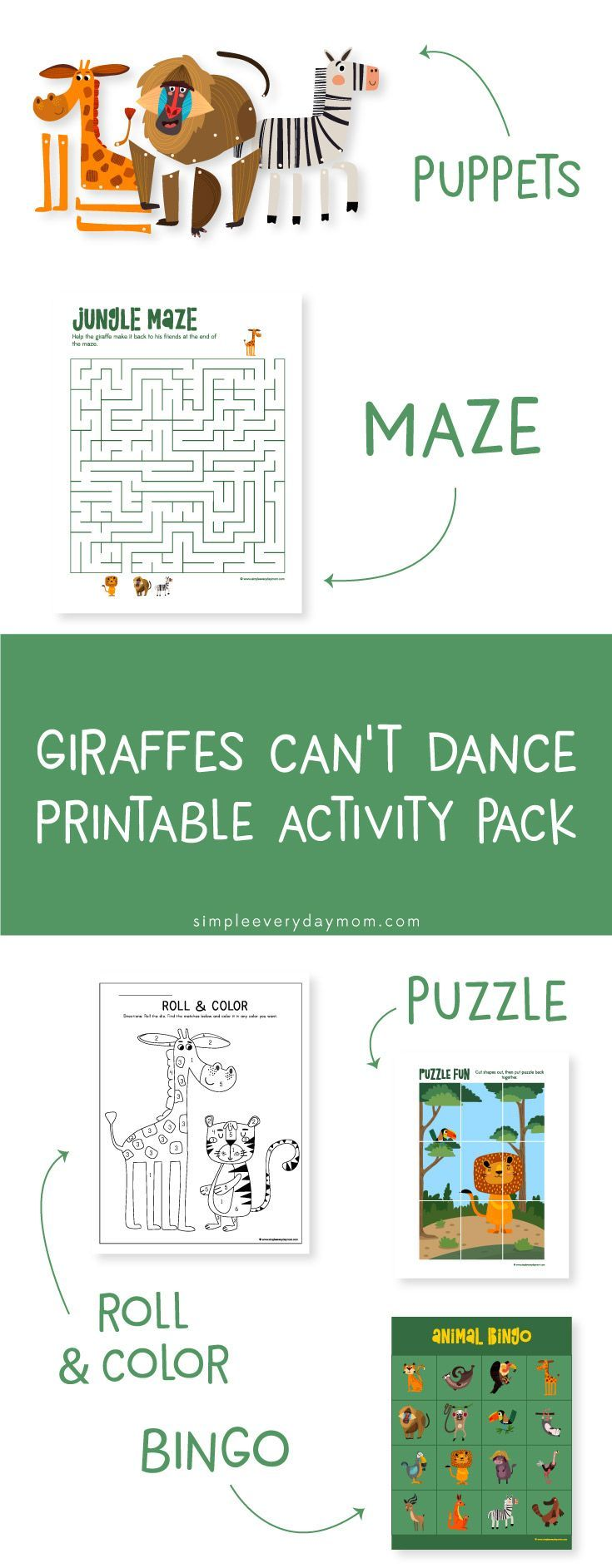 Giraffes Can T Dance Activities Kindergarten Printables Preschool Activi Printable Activities For Kids Preschool Craft Activities Craft Activities For Kids [ 1885 x 735 Pixel ]