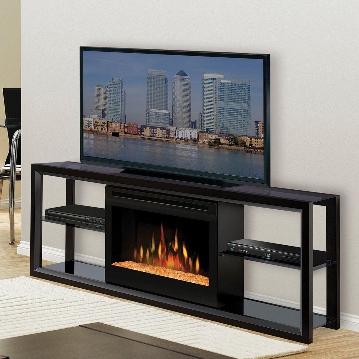 Electric fireplace insert and Electric fireplace media center